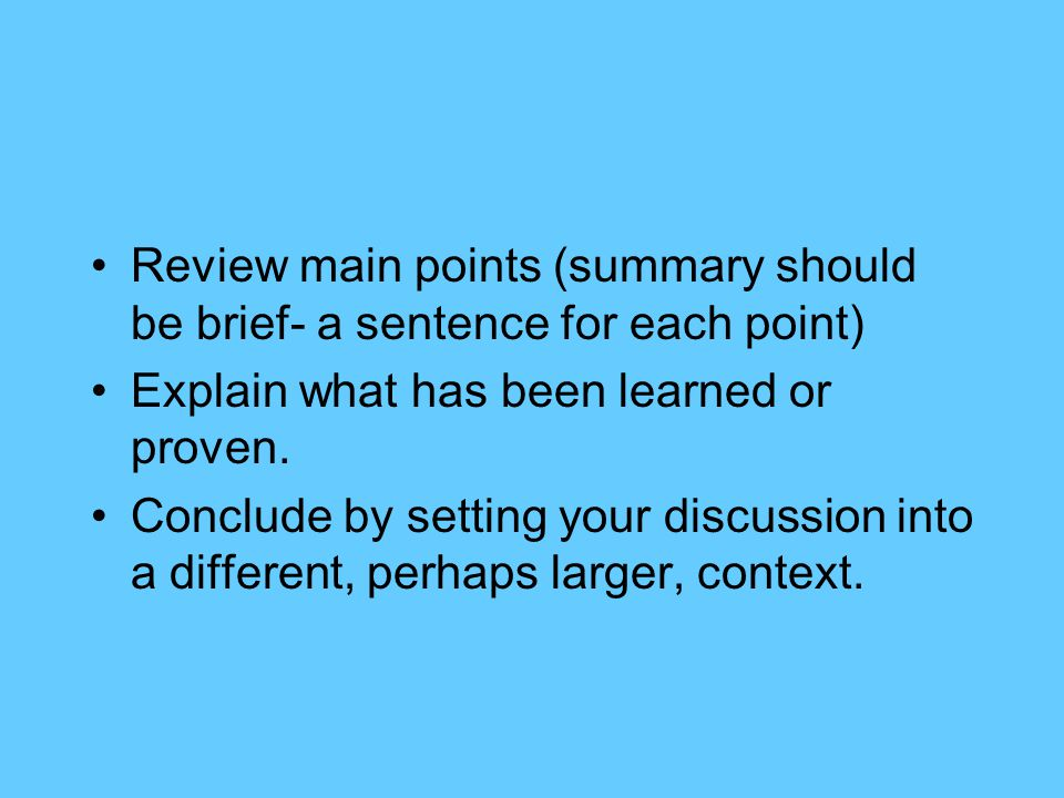 ways to conclude a essay How to write a conclusion for a research but remember that there are other ways you can summarize i was writing an essay for my middle school.