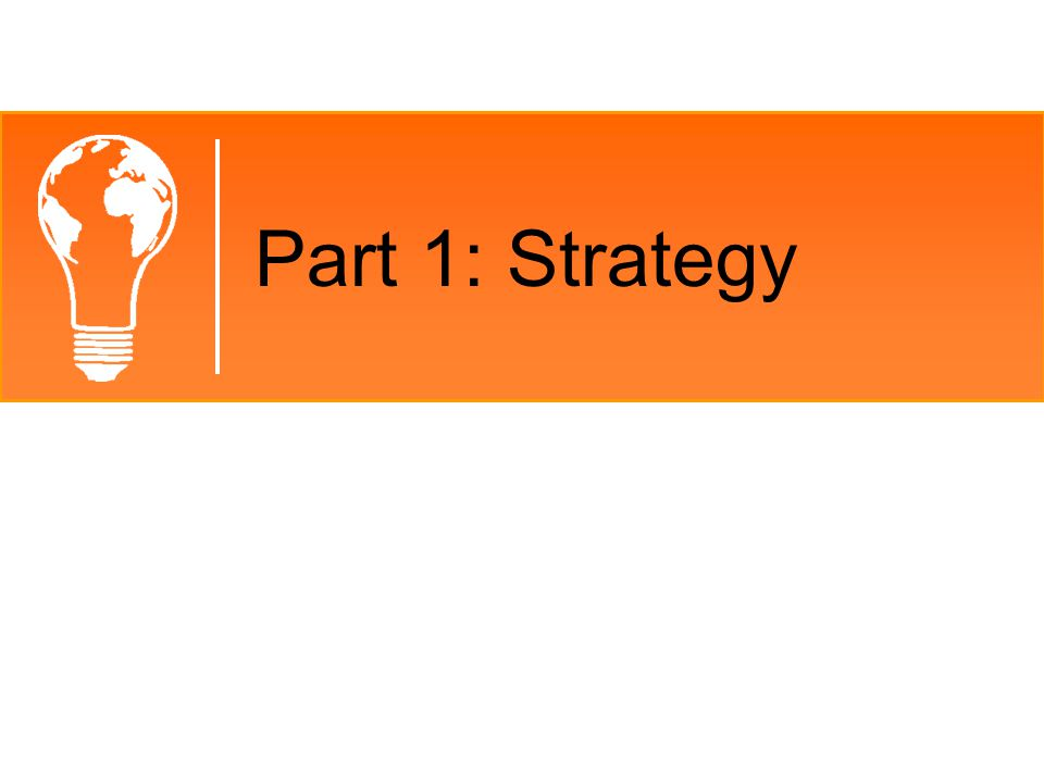 Part 1: Strategy