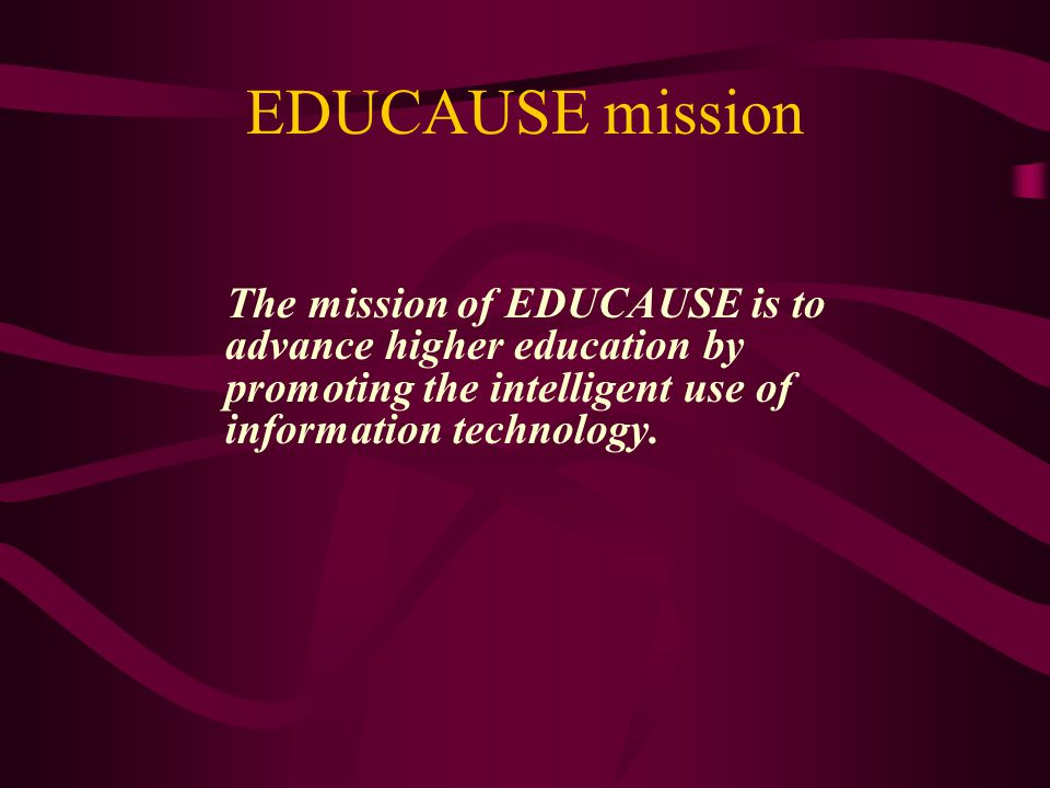 Institutional purpose AAHE and EDUCAUSE/NLII are member organizations (individuals/institutions) A shared purpose is professional development of higher education professionals (faculty/instructional technologists) Another purpose is building the body of knowledge and practice in selected domains