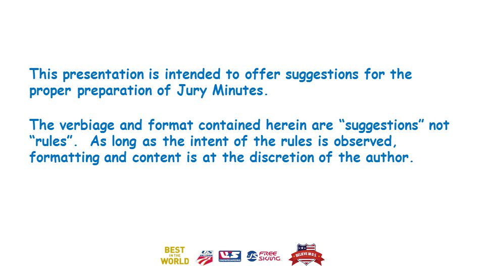 JURY MINUTES A Guide for their Preparation. This presentation is ...
