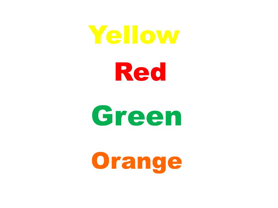 Green Yellow Red Orange