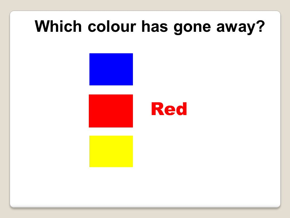 Which colour has gone away Red