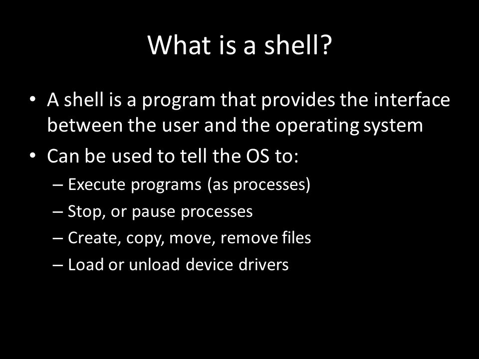 What is a shell.