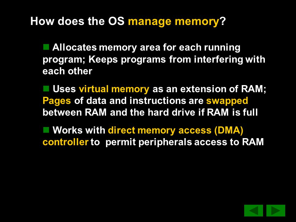 How does the OS manage memory.