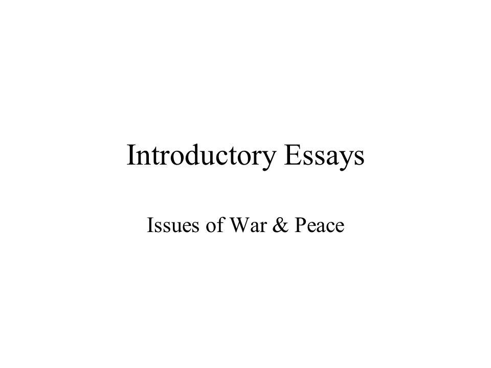essay peace war