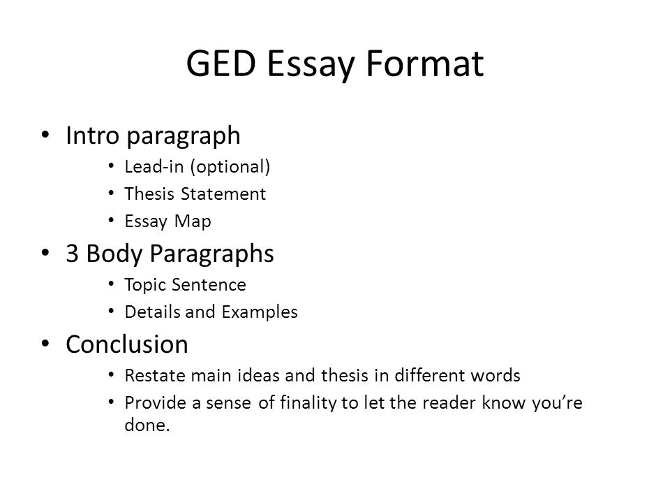 Tips writing good ged essay