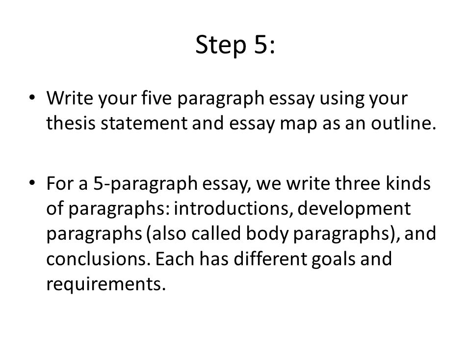 What type of essay uses a thesis statement?