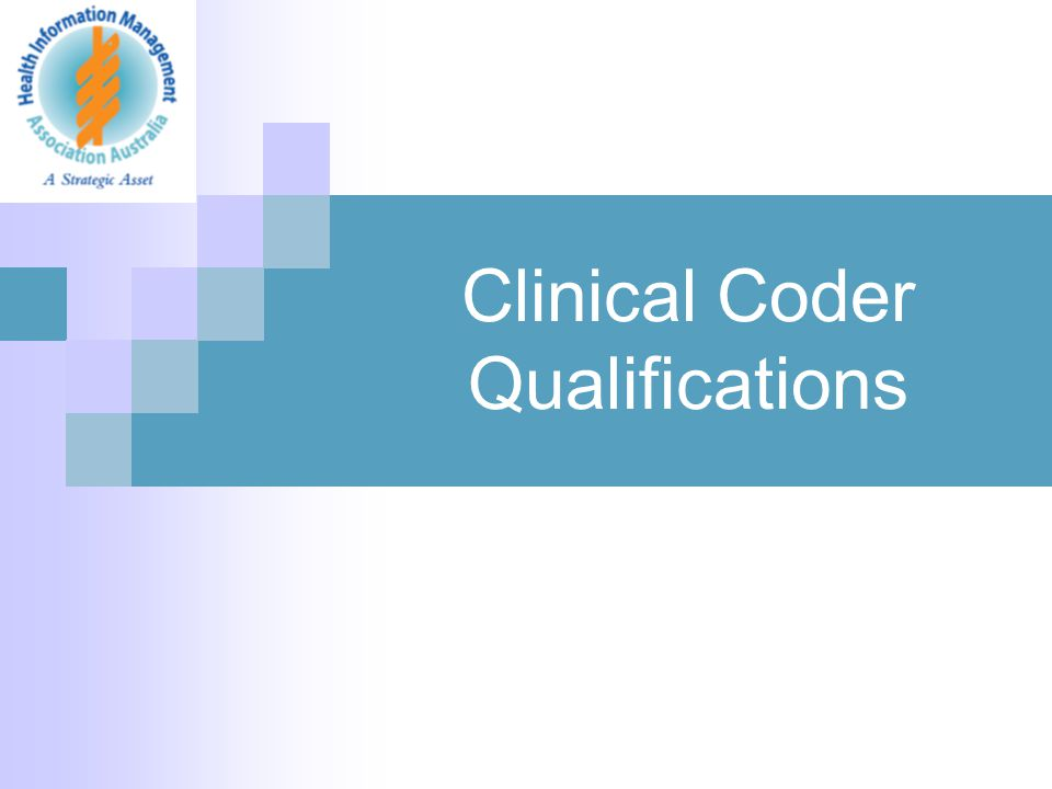 Clinical Coder Qualifications