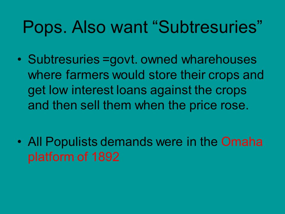 Pops. Also want Subtresuries Subtresuries =govt.