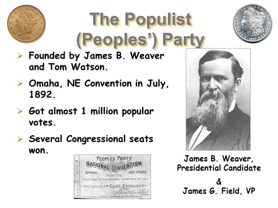 The Populist (Peoples') Party 1890 Bi-Election:  1890 Bi-Election: So.