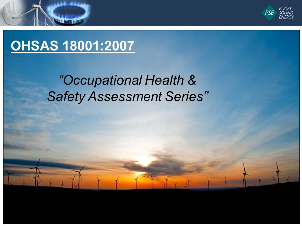 9 Occupational Health & Safety Assessment Series OHSAS 18001:2007
