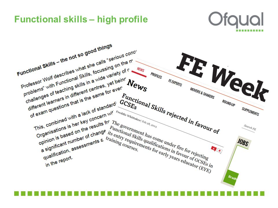 Functional skills – high profile