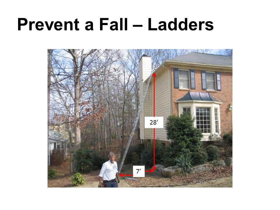Prevent a Fall – Ladders 28' 7'