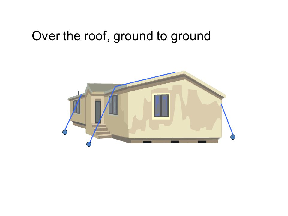 Over the roof, ground to ground