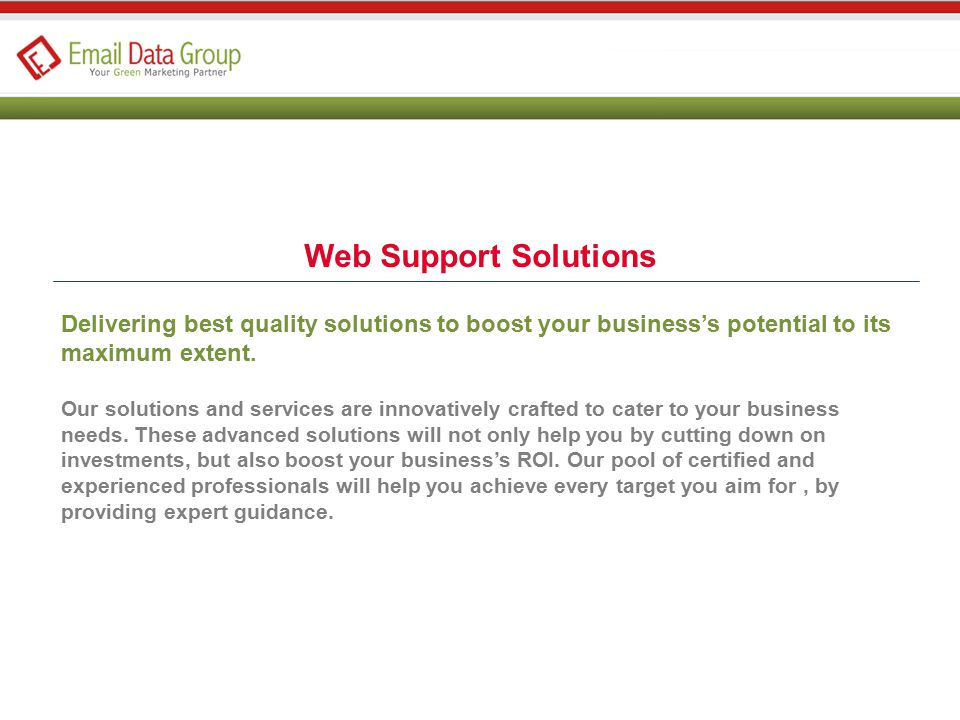 Web Support Solutions Delivering best quality solutions to boost your business's potential to its maximum extent.