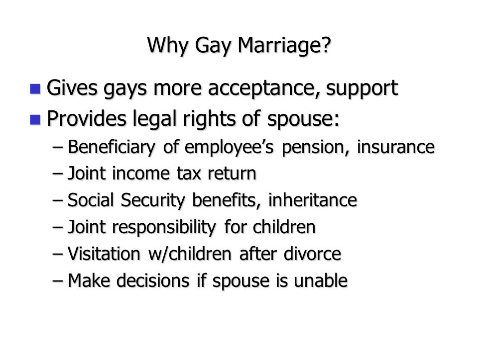 Gay legal rights social security
