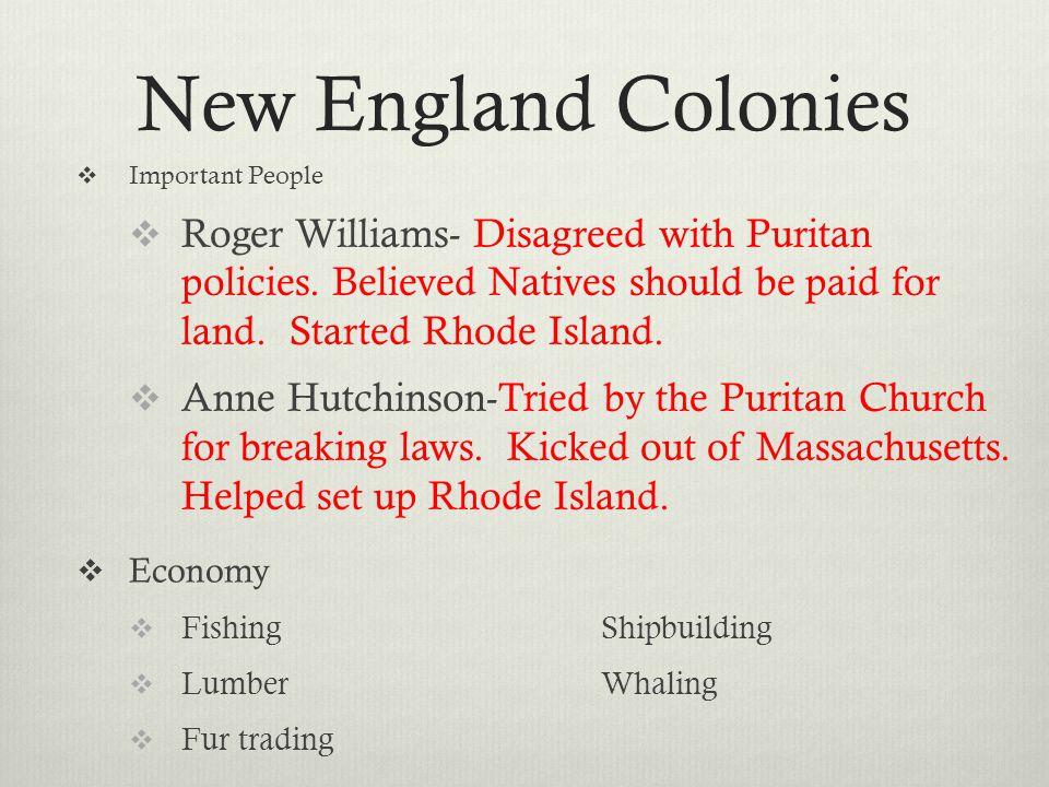 new england colonies people Gallery