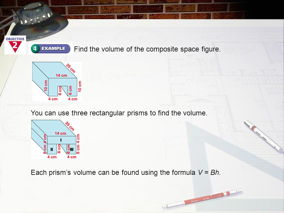 Find the volume of the composite space figure.
