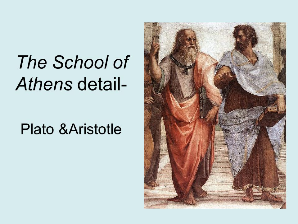 The School of Athens detail- Plato &Aristotle