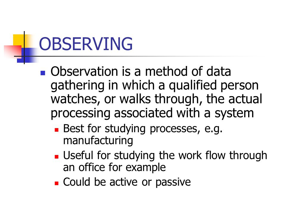 Non-behavioral observation research paper