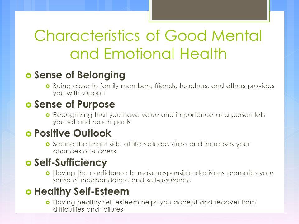 good emotional health