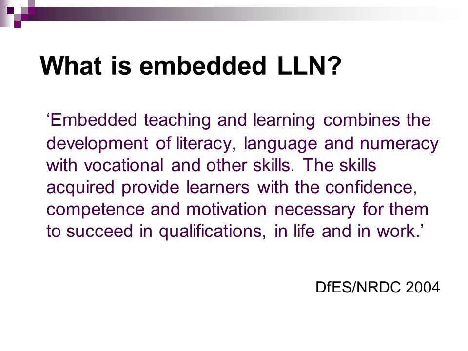 What is embedded LLN.
