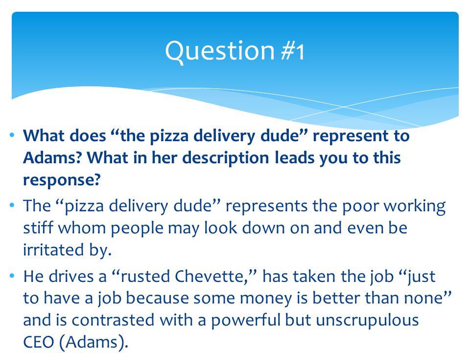pizza dude questions essay
