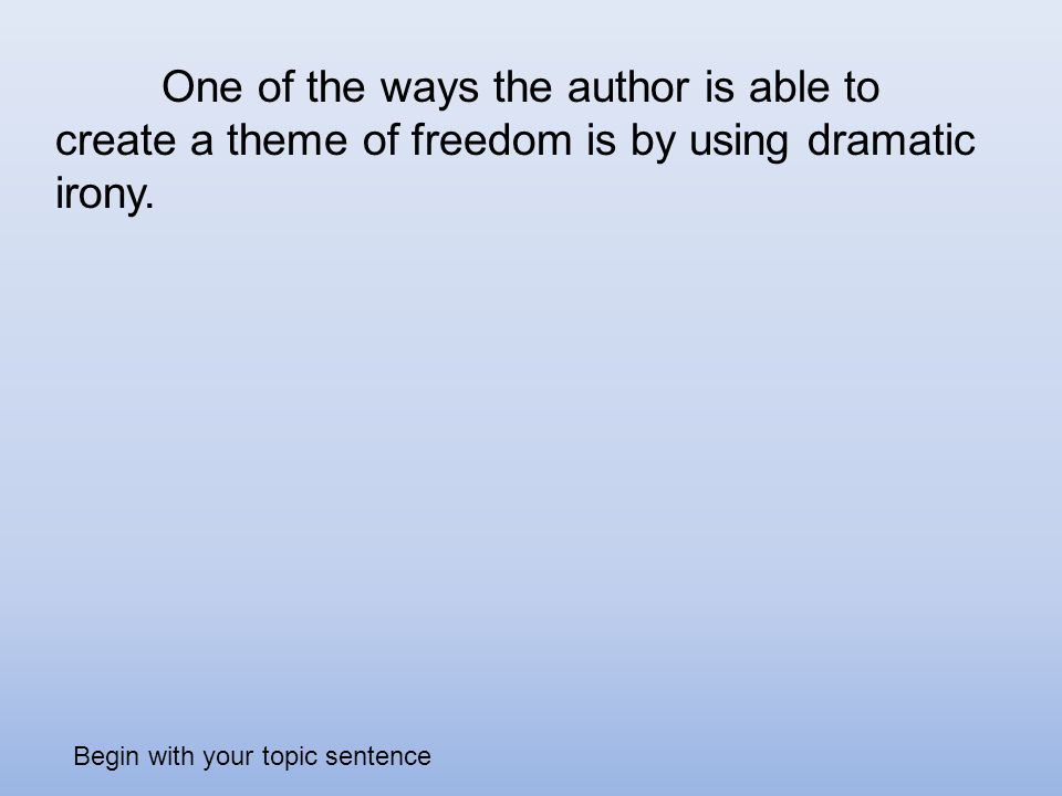 dramatic irony used create comedy play write essay explain What impact does the irony have upon the reader in dramatic irony  how to write a college character analysis essay.
