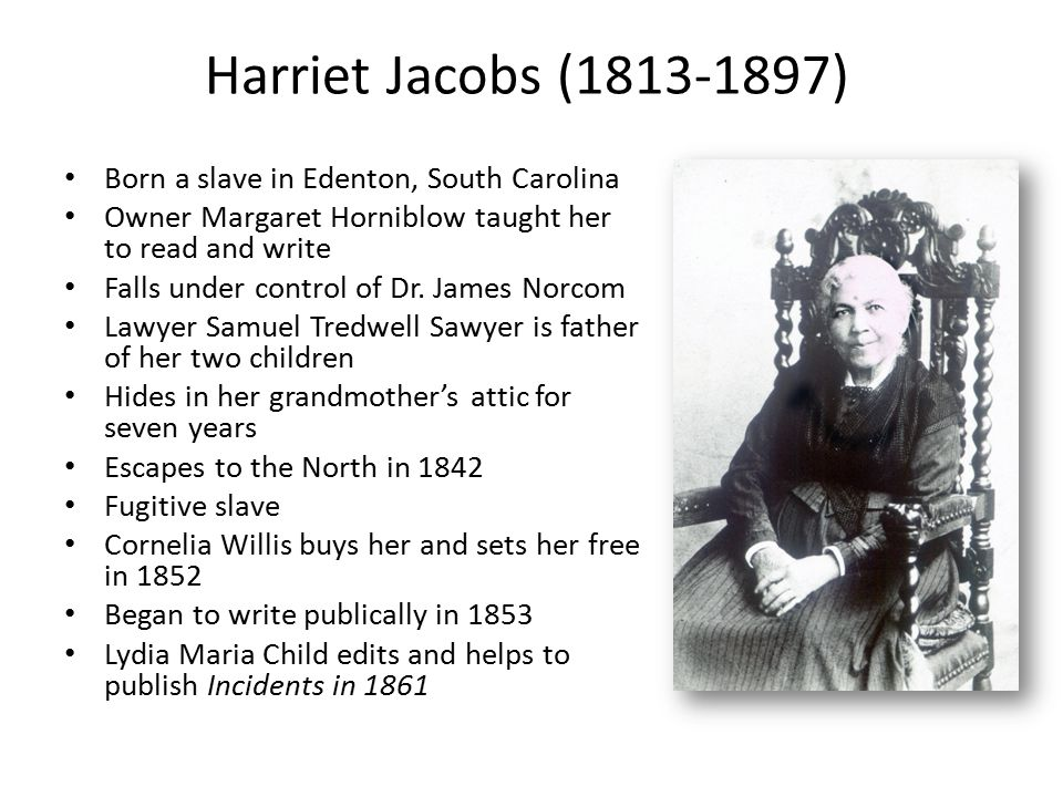 Did Harriet Jacobs have any children with her master Dr.Flint(Norcom) while in slavery?