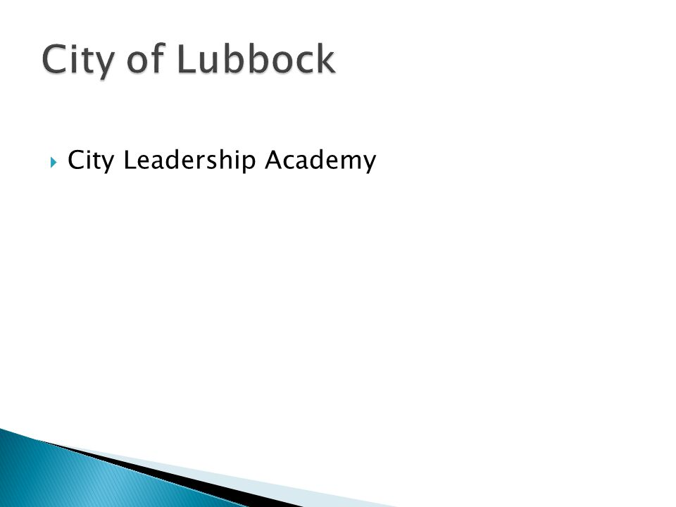  City Leadership Academy