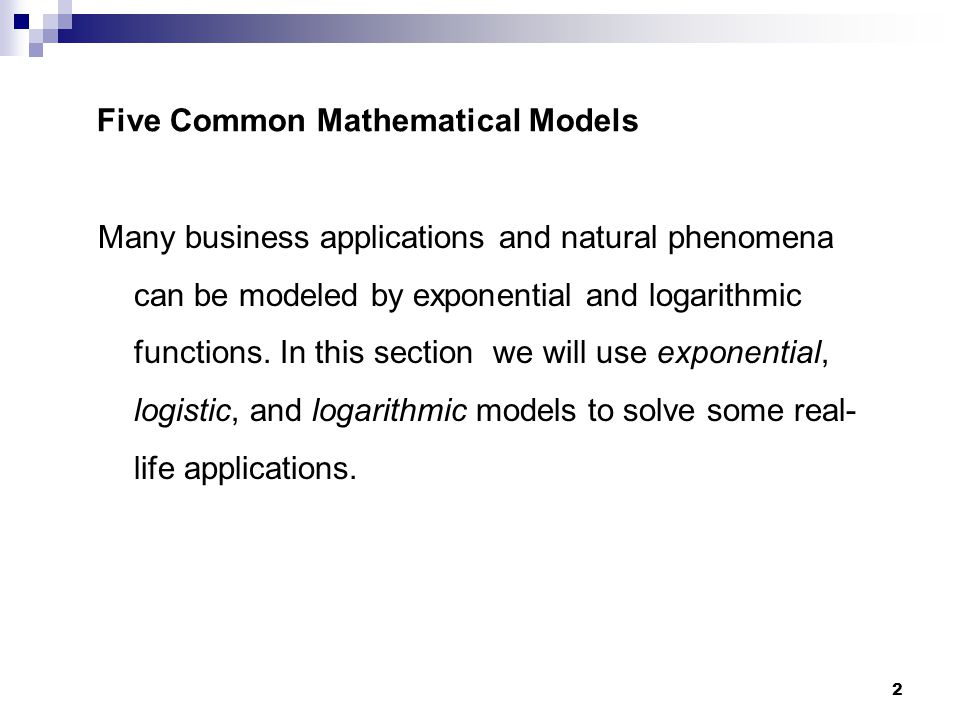 exponential functions in business