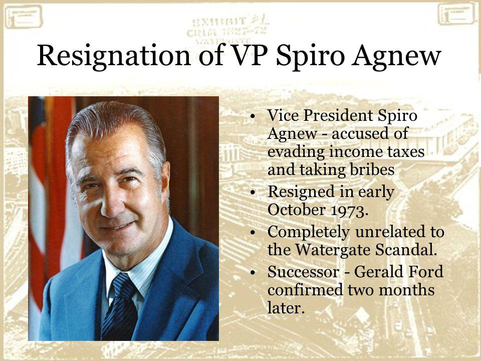 spiro agnew resignation