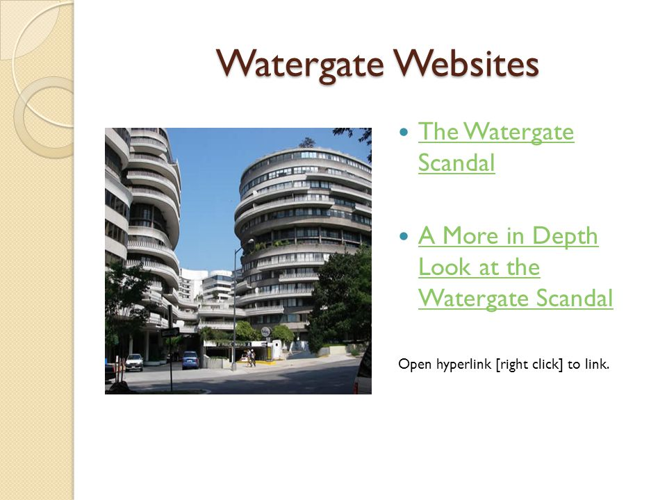 watergate nixon a political chameleon essay Timeline of the watergate scandal —regarding the burglary and illegal wiretapping of the washington, dc headquarters of the democratic national committee in the watergate complex by members of president of the united states richard nixon's re-election committee and subsequent abuse of powers by the president and administration.