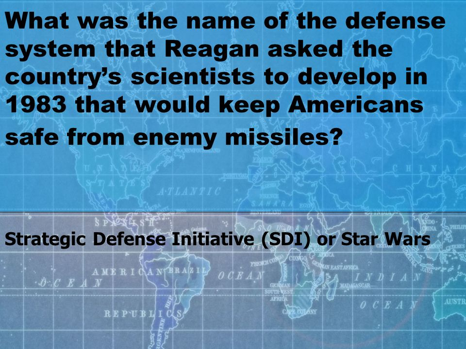 What was the name of the defense system that Reagan asked the country's scientists to develop in 1983 that would keep Americans safe from enemy missiles.