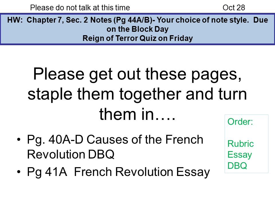 causes of the reign of terror essay French revolution essay development thesis statement first body paragraph the reign of terror was established so that the problems of france's internal (royal catholic army) and external (first coalition and the emigres trying to destabilize the revolution) threats would not threaten the nation anymore.