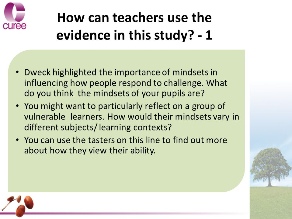 How can teachers use the evidence in this study.