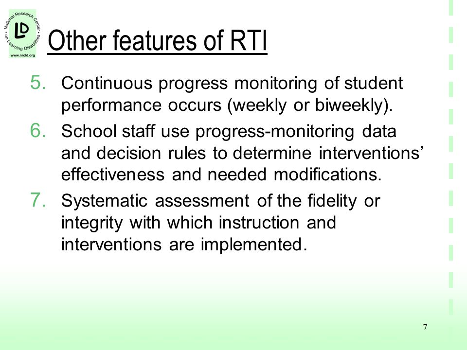 7 Other features of RTI 5.