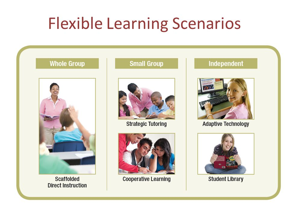 Flexible Learning Scenarios