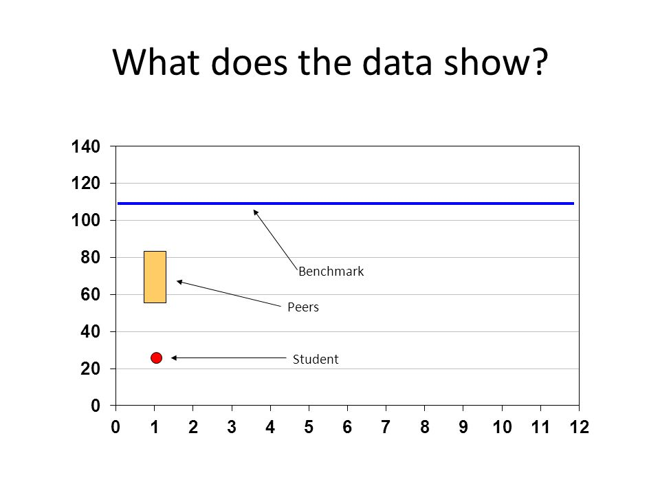 What does the data show Student Benchmark Peers