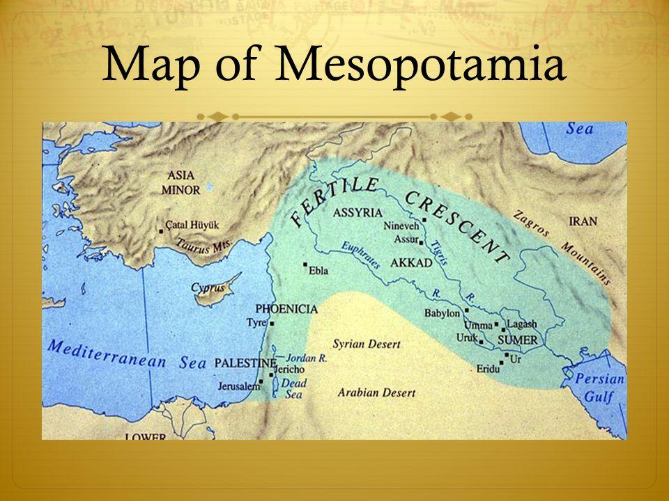 Ancient Mesopotamia Map Fertile Crescent