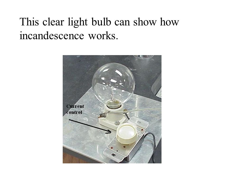 This clear light bulb can show how incandescence works.
