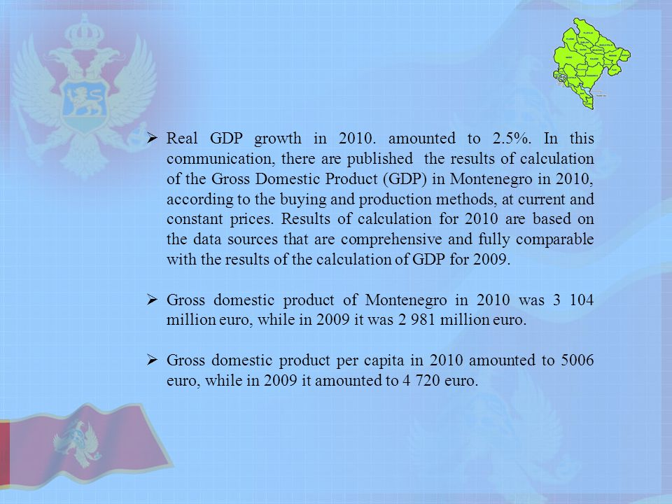  Real GDP growth in amounted to 2.5%.