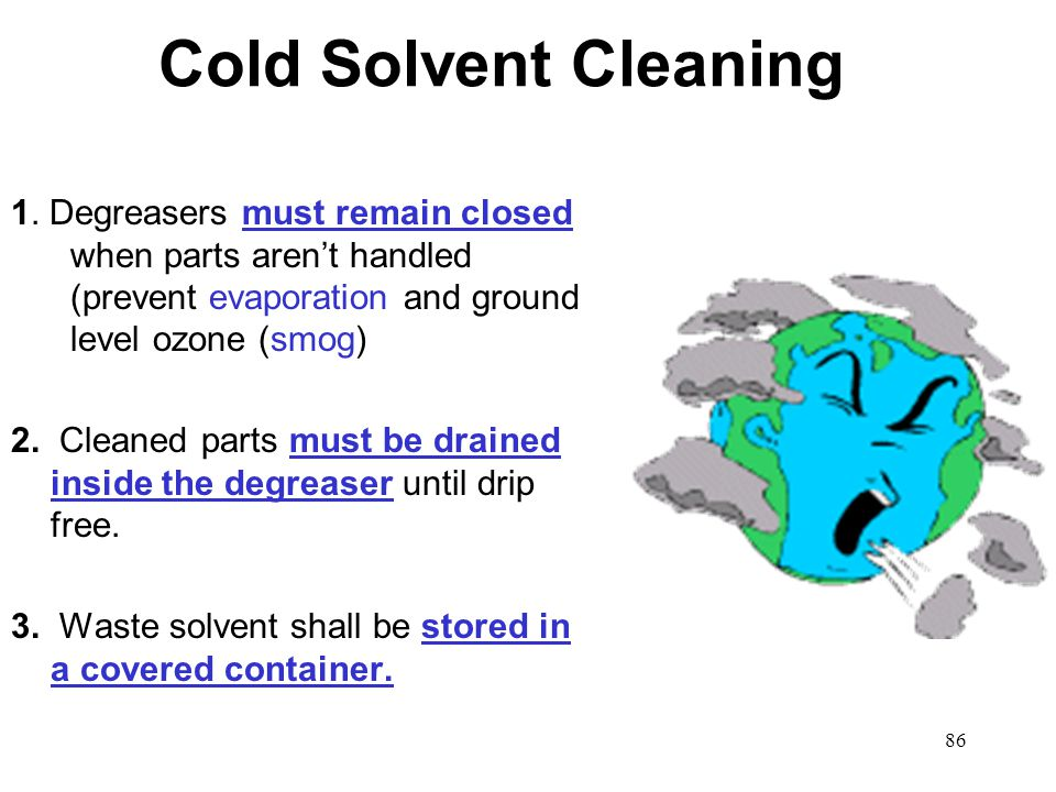 86 Cold Solvent Cleaning 1.