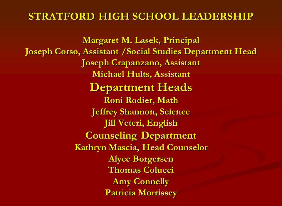 STRATFORD HIGH SCHOOL LEADERSHIP Margaret M.