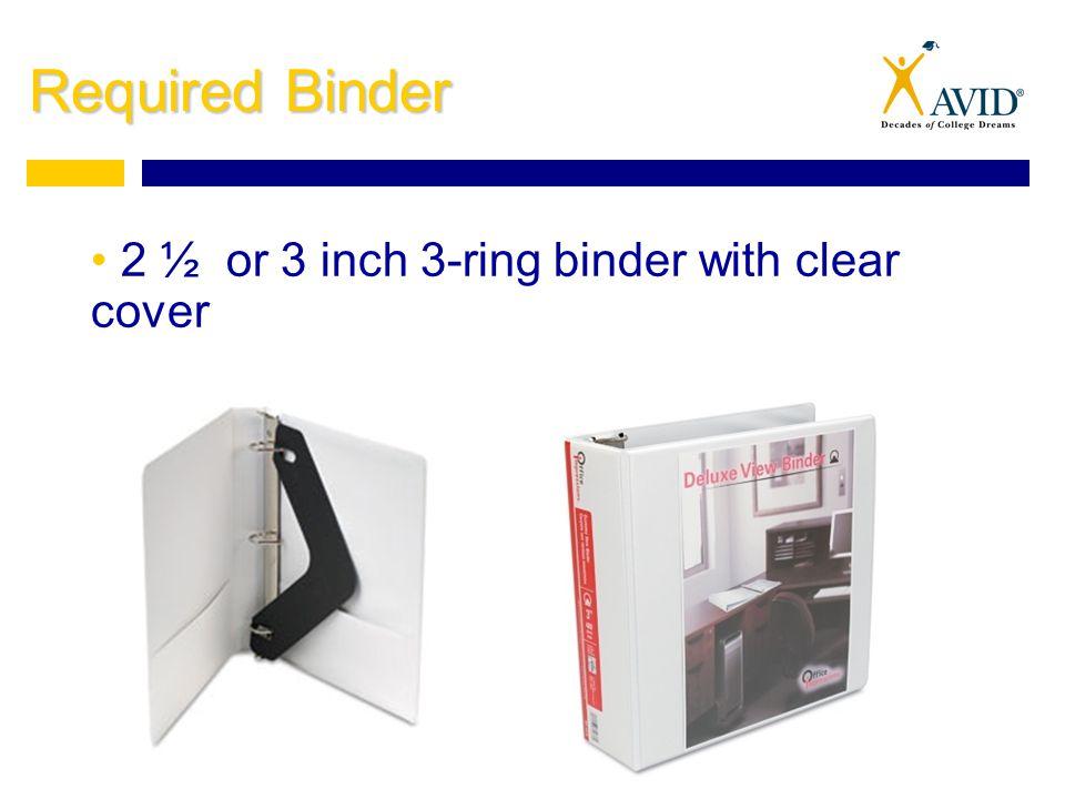 3 inch ring binder