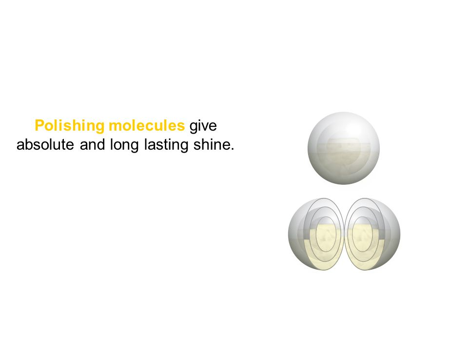 Polishing molecules give absolute and long lasting shine.