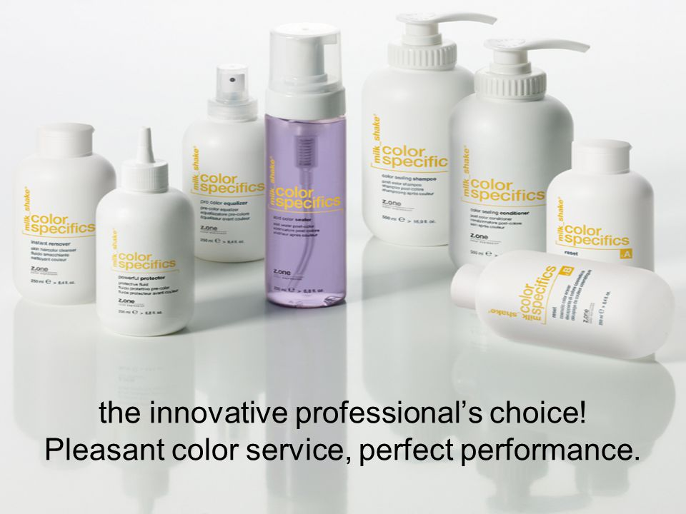 the innovative professional's choice! Pleasant color service, perfect performance.