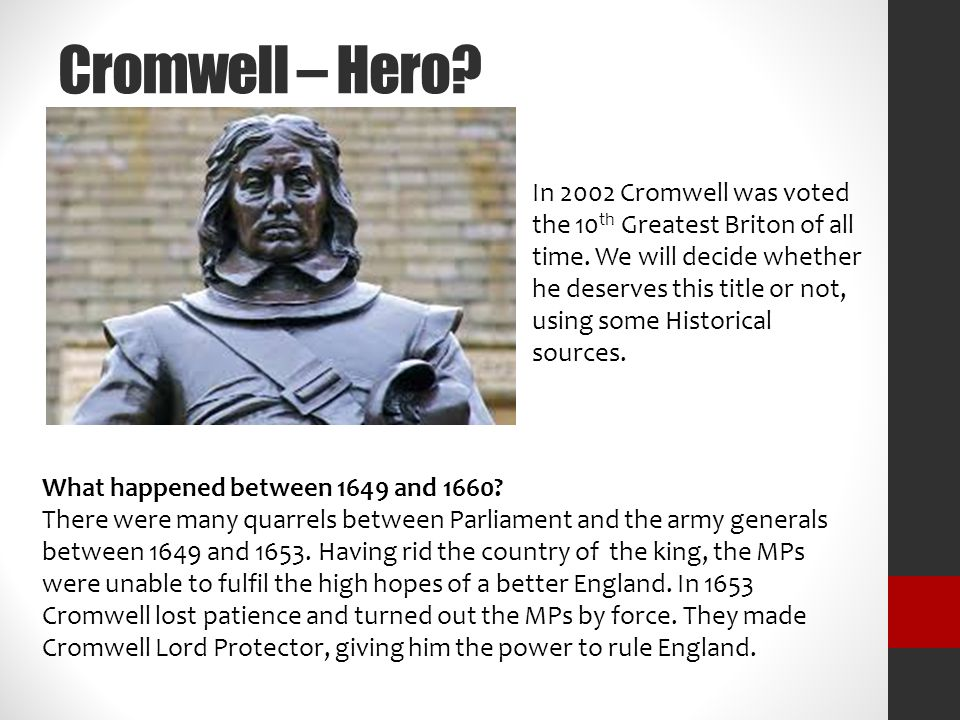 why was oliver cromwell a villain essay It would helpful to place who is oliver cromwell before confirming whether he is a.