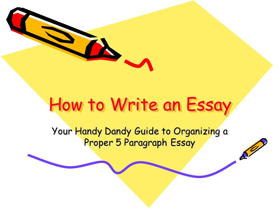 how to write essay