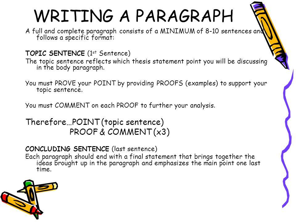 Writing a proper essay